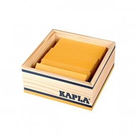 Kapla, kistje 40 stuks, geel
