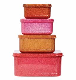 A Little lovely company, Snackbox set 4, autumn pink