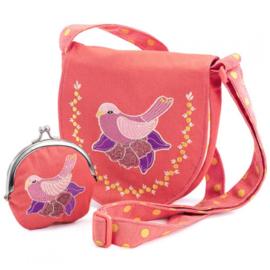 Tasje en portemonnee, vogel, Djeco