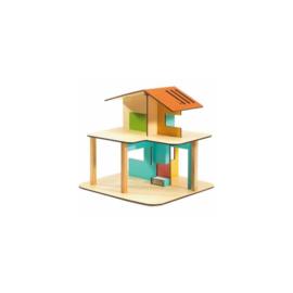 Modern house, poppenhuis, Djeco