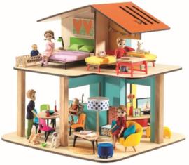 Familie Milo en Mila, poppenhuis, Djeco