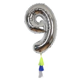Folie ballon cijfer 9, Meri Meri