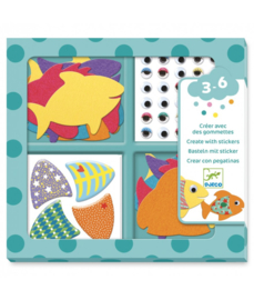 Djeco Create with stickers, I love fish