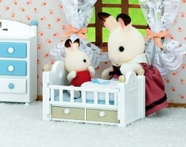 Chocolate Rabbit Baby & Bed, 5017