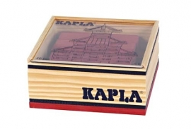 Kapla, kistje 40 stuks, rood