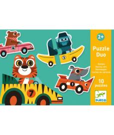 Duo puzzel, racewagens, Djeco