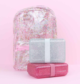 A little lovely company, lunchbox glitter Zilver