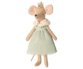 Queen mouse, groene jurk, Maileg