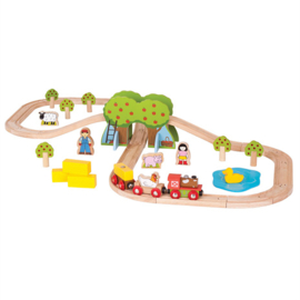 Farm train set, Bigjigs