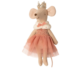 Prinses muis, roze jurk, Maileg