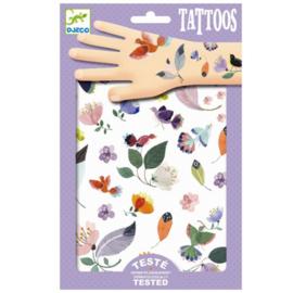 Vogels en bloemen tattoos, Djeco