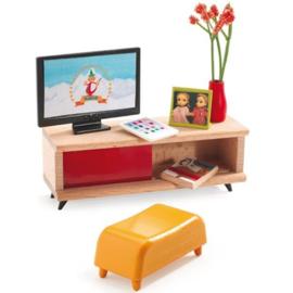 Tv meubel, poppenhuis, Djeco