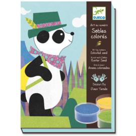 Gekleurd zand panda & friends, Djeco