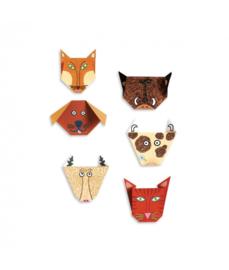 Origami, dierengezichten, Djeco