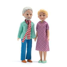 Opa en Oma, poppenhuis, Djeco