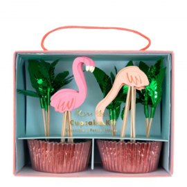 Cupcake set flamingo, Meri Meri