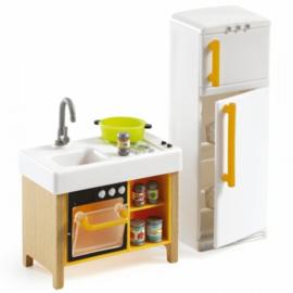 Compacte keuken, poppenhuis, Djeco