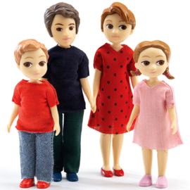 Familie Thomas en Marion, poppenhuis, Djeco