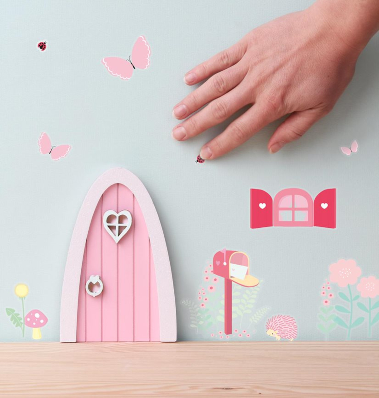 A little lovely company Feeën deurtje roze