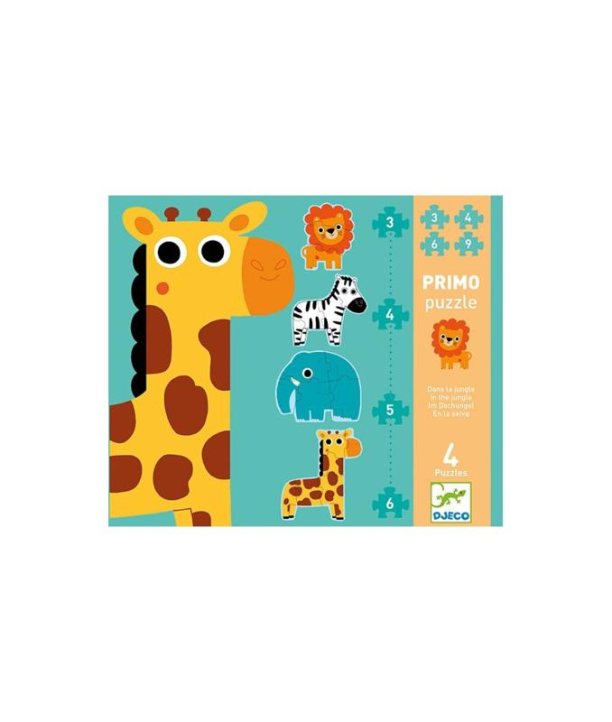 Djeco Primo puzzel, In de jungle