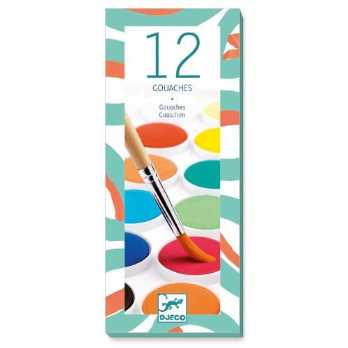 Djeco Waterverf classic 12 kleuren