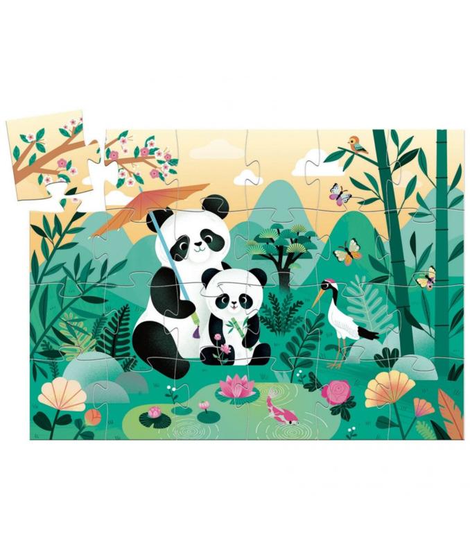 Djeco Puzzel Panda 24 stukjes