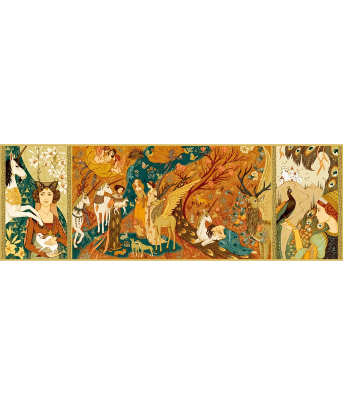 Puzzel, Unicorn garden 500st. , Djeco
