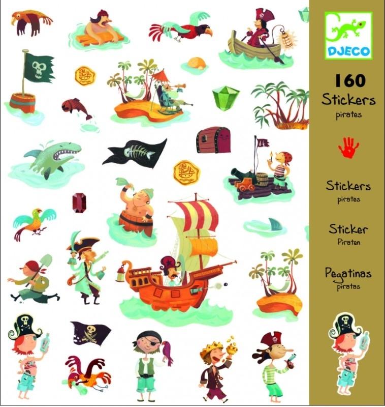 Stickers piraat, Djeco