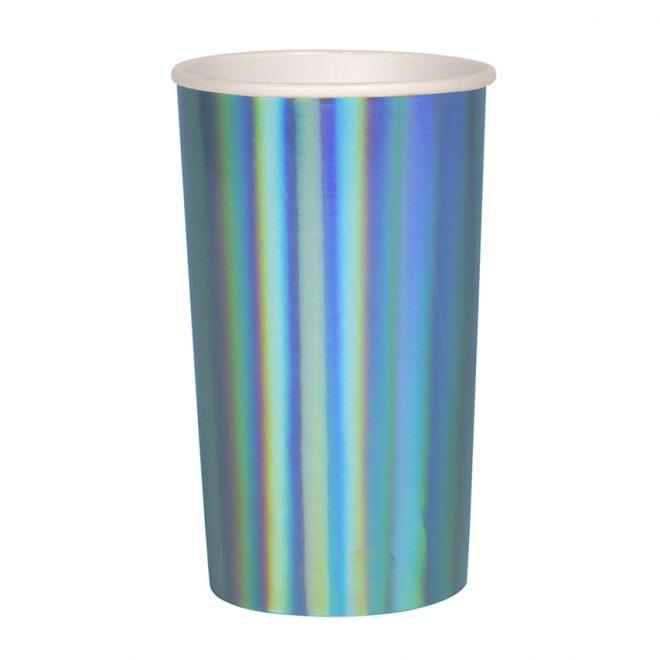 Beker holografisch blauw, Meri Meri
