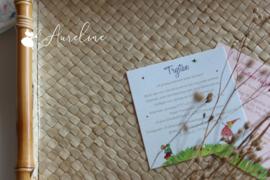 Extra inlegkaartje (babyborrel, bedankkaartje, uitnodiging receptie/feest, ...)