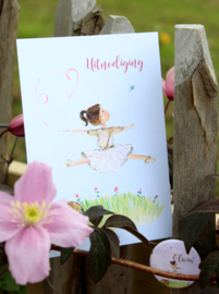 Communiekaarten of lentefeestkaartjes : illustratie + kaartjes,  ingekaderd