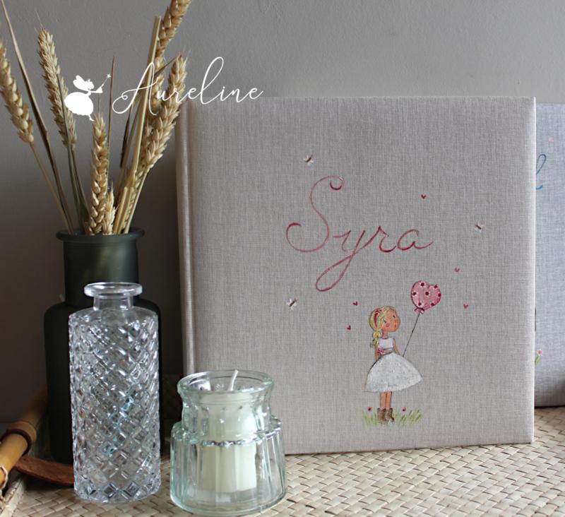 Gepersonaliseerd fotoalbum voor baby, communie, huwelijk, .. handbeschilderd op voorkant