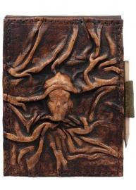 "Lederen Notitieblok Medium bruin ""Gezicht"" 15,5 cm"