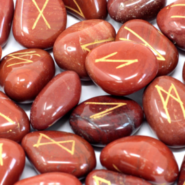 Runenset Rode Jaspis