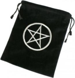 Tarotkaarten Tasje Zwart Pentagram
