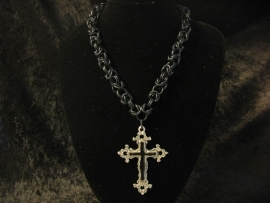 "Halsketting ""Black Cross"""