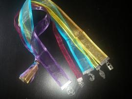 5-dubbele boekenlegger van organzalint met hangers
