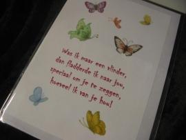 """Wenskaart """"Vlinders"""""""