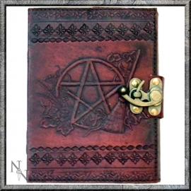 """Lederen Blanco Boek """"Pentagram"""" 18 cm"""