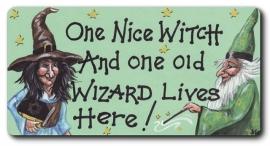 """Koelkastmagneet """"One Nice Witch ..."""""""