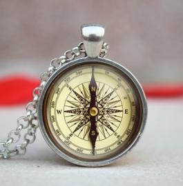 "Ketting ""Kompas"" zilver"