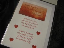 """Wenskaart """"True Love"""""""