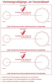 Werkkaart 5 - Vermenigvuldigings- en Verzendkaart 3x