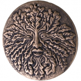 Wandbord in Bronskleur Green Man