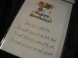 """Wenskaart """"Verjaardag"""" (kind)"""