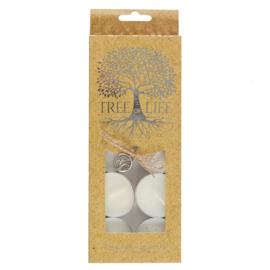 Witte Waxinelichtjes (10 stuks)