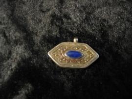 Hanger Lapis Lazuli zeskant