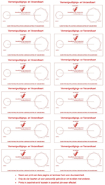 Werkkaart 6 - Vermenigvuldigings- en Verzendkaart 12x