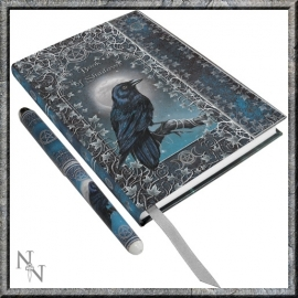 "Book of Shadows A5 met Pen ""Raven"""