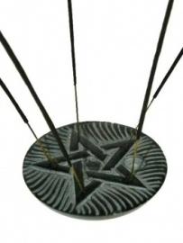 Wierookbrander Pentagram Speksteen